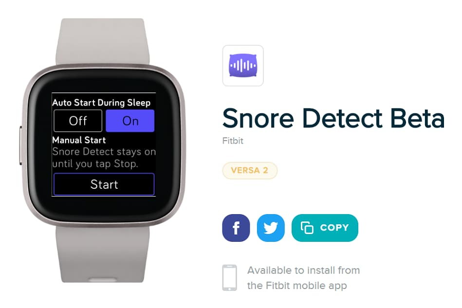 Fitbit Snore Detect
