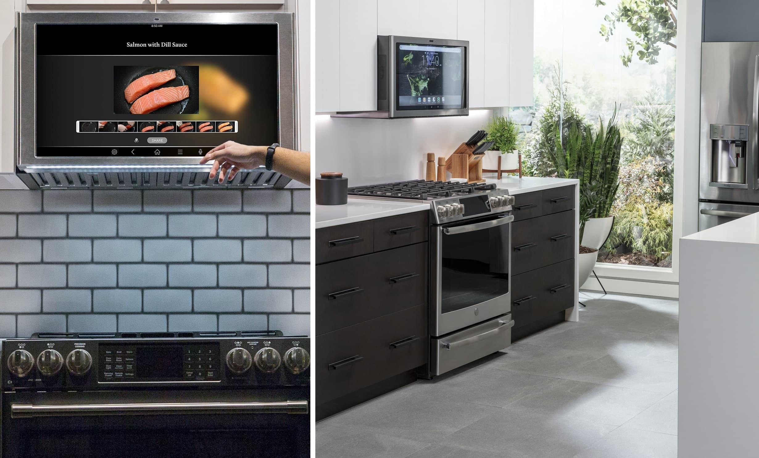 GE Kitchen Hub 2020 smart okap i mikrofalówka z Asystentem Google