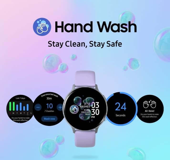 Mycie rąk Galaxy Watch Hand Wash Tizen