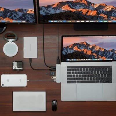 hub, adapter, przejściówka Zenwiredo Macbook Pro, Air na HDMI, USB, Thunderbolt 3.0