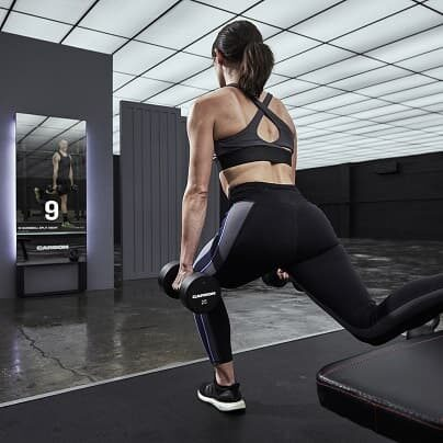 Carbon smart fitness mirror