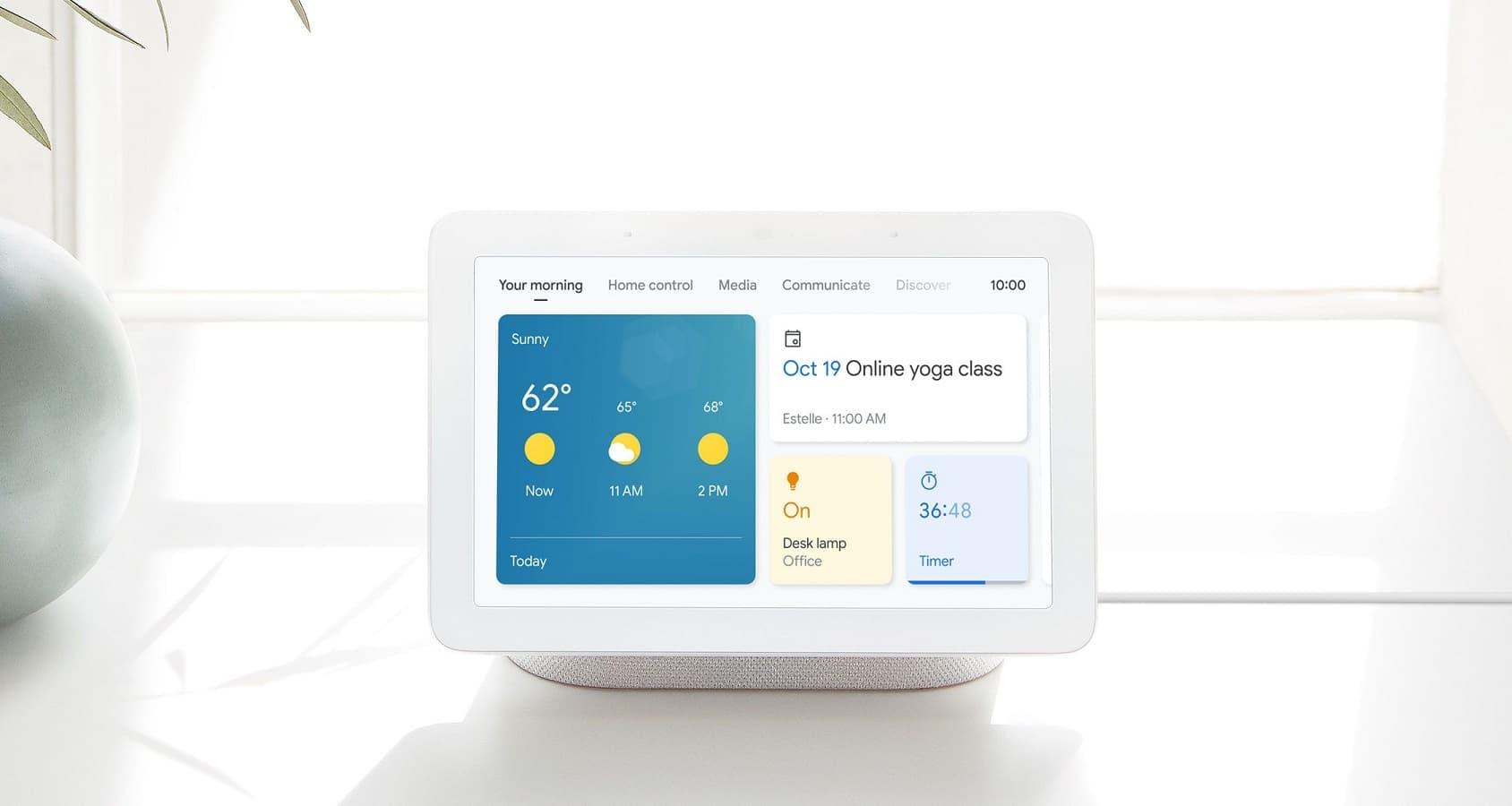 Google Smart Display interfejs