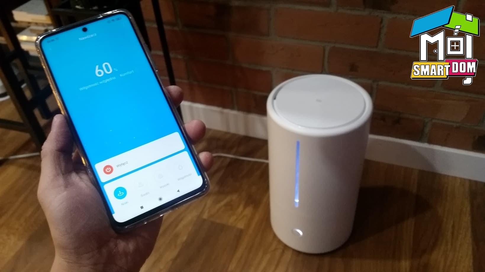 smart nawilżacz Xiaomi z aplikacją