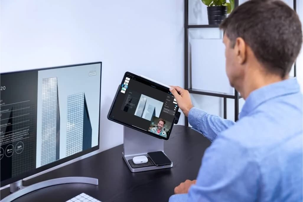 Kensington StudioDock ipad stacjonarnym komputerem
