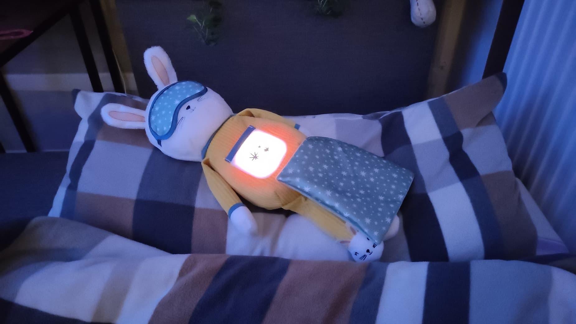Króliczek Usypianka Zaśnij ze mną zabawka do pomocy w zasypianiu