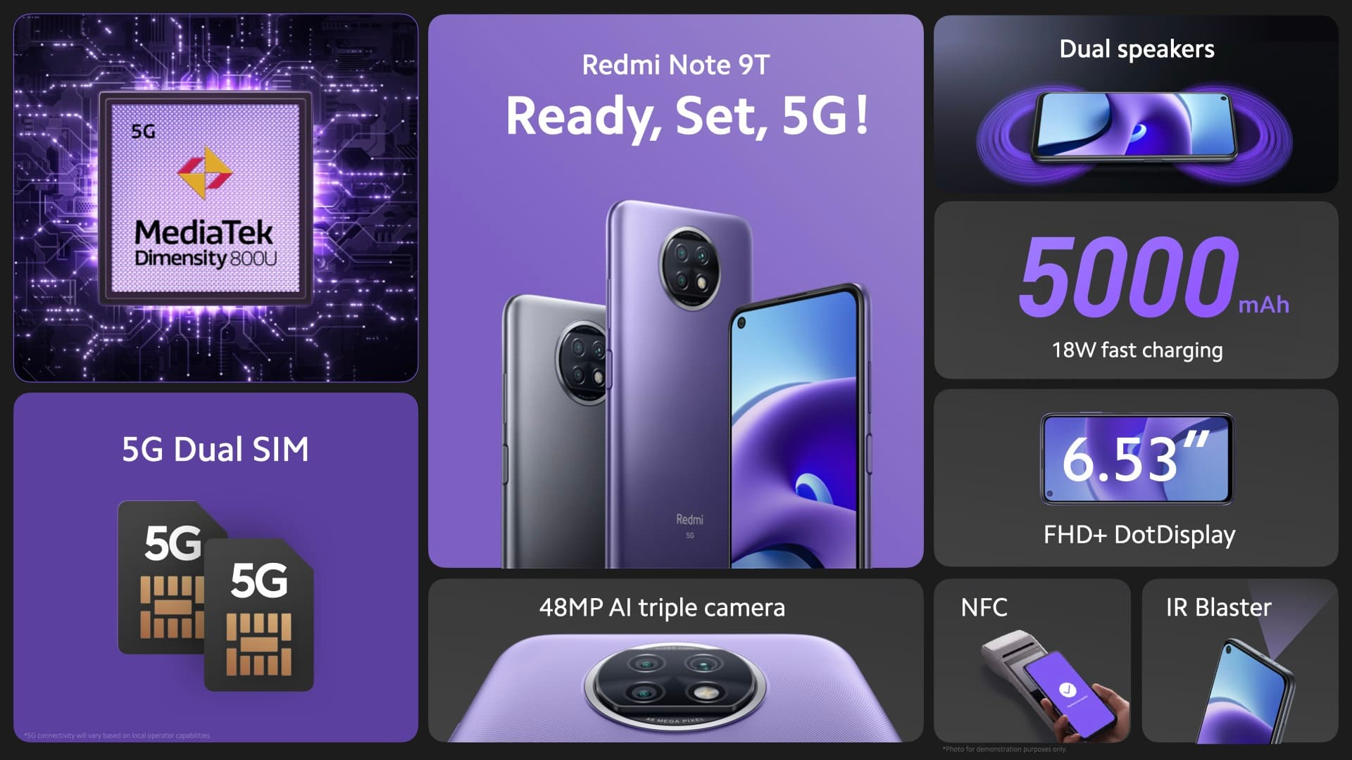 Redmi Note 9T z modemem dual sim 5G