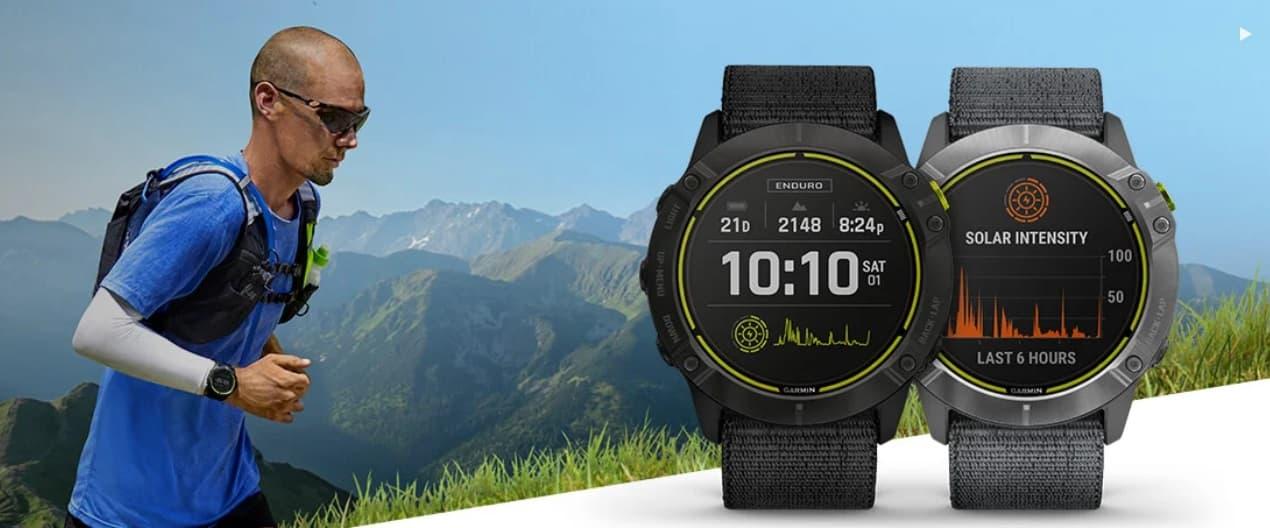 Garmin Enduro solarny zegarek dla długodystansowych biegaczy