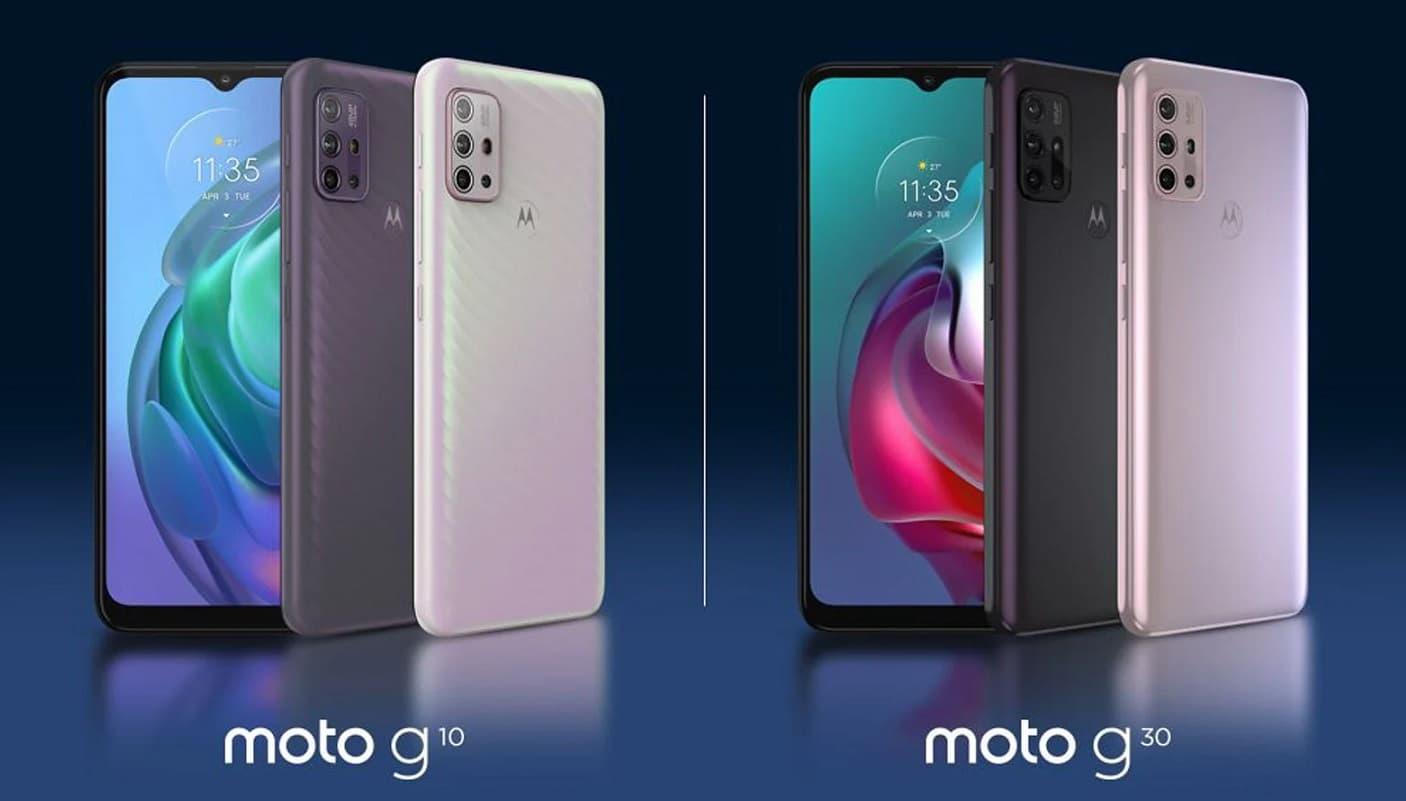 porównanie Moto G10 i Moto G30