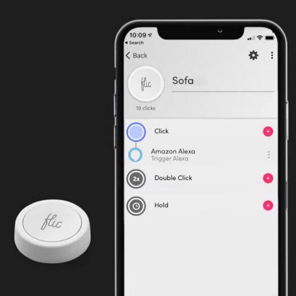 smart przycisk Flic do rutyn Alexa F