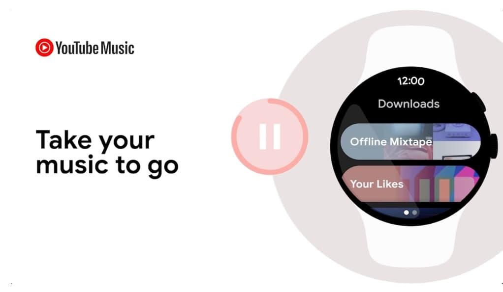 YouTube Music offline na Wear OS