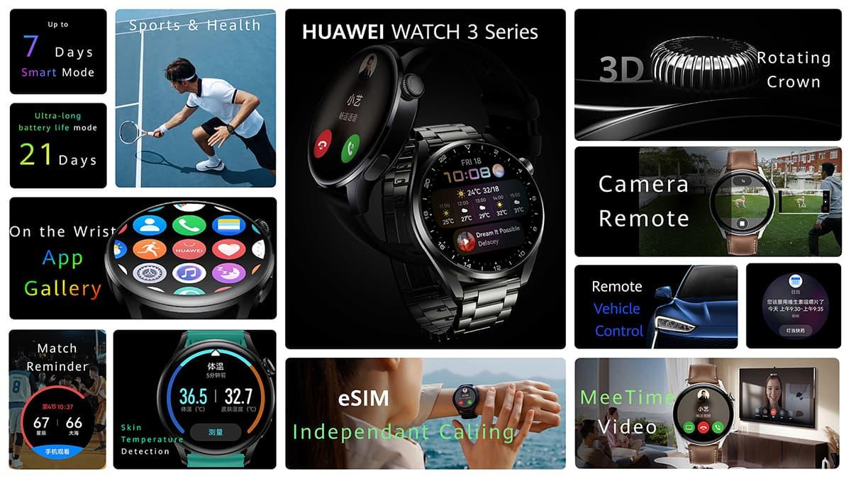 martwatch Huawei Watch 3 z Harmony OS