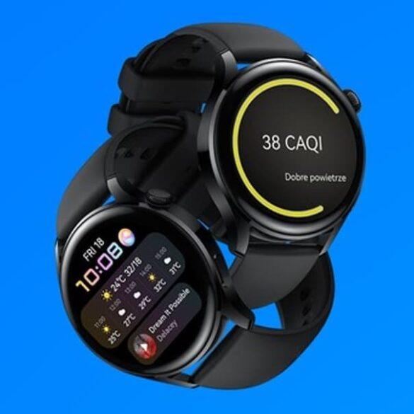 Airly Huawei Watch 3 jakość powietrza