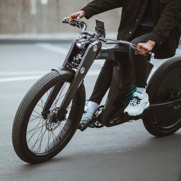 CrownCruiser elektryczny retro smart rower