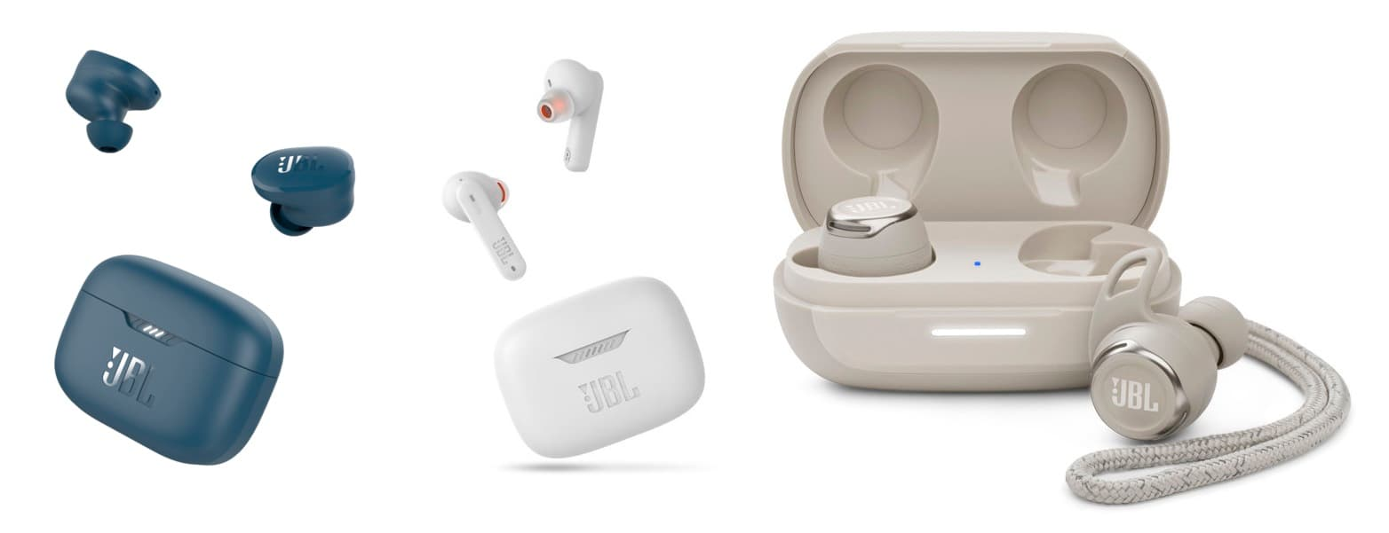 słuchawki JBL Reflect Flow Pro, Tune 130NC i Tune 230NC